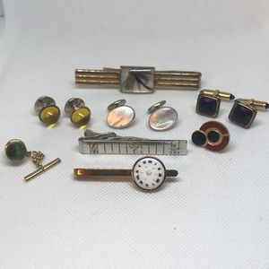 Lot of Estate Cufflinks and Tie-bars